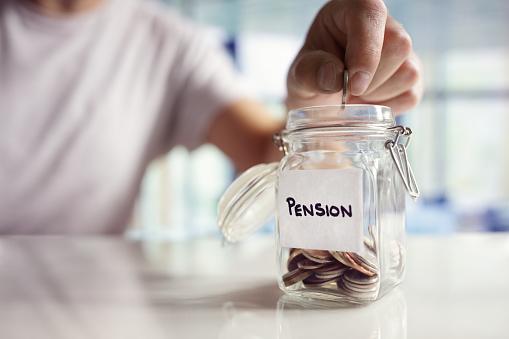 Saving And Pension Planning - Fotografie stock e altre immagini di 1 centesimo americano