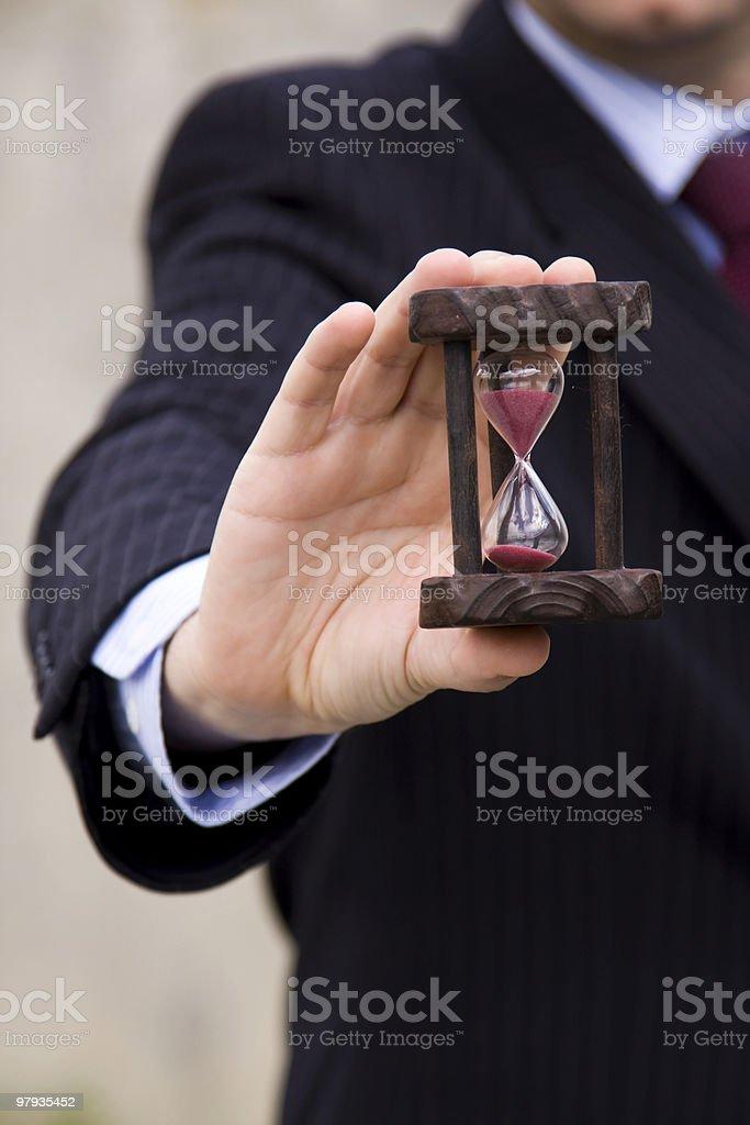 Saving businesstime royalty-free stock photo