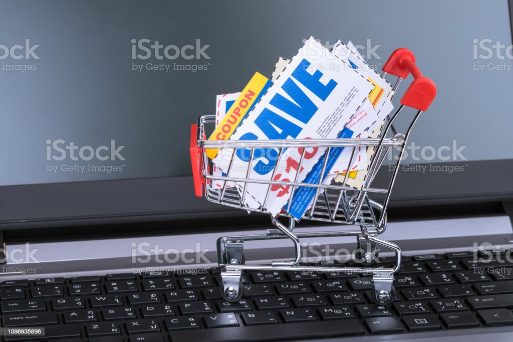 Saving discount coupon voucher in shopping cart and computer...