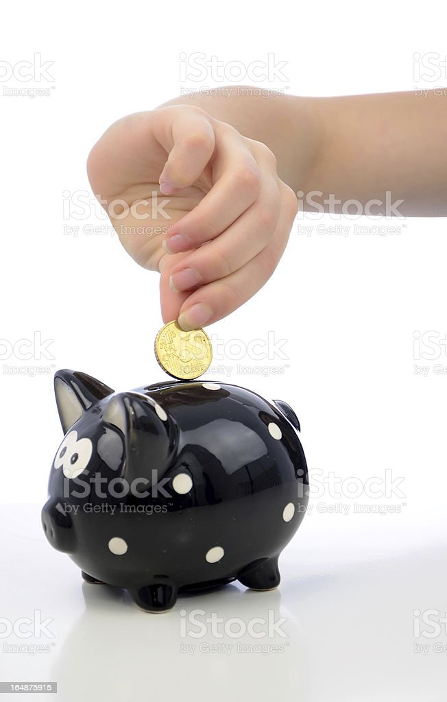 Saving euro coins royalty-free stock photo
