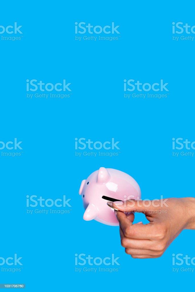 Saving every penny stock photo