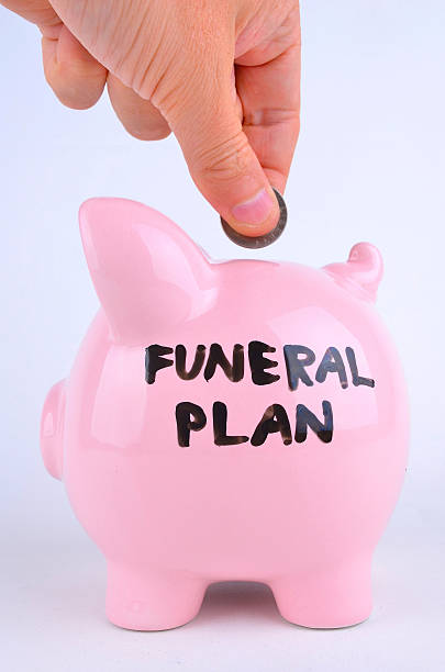 Saving For a Funeral stock photo