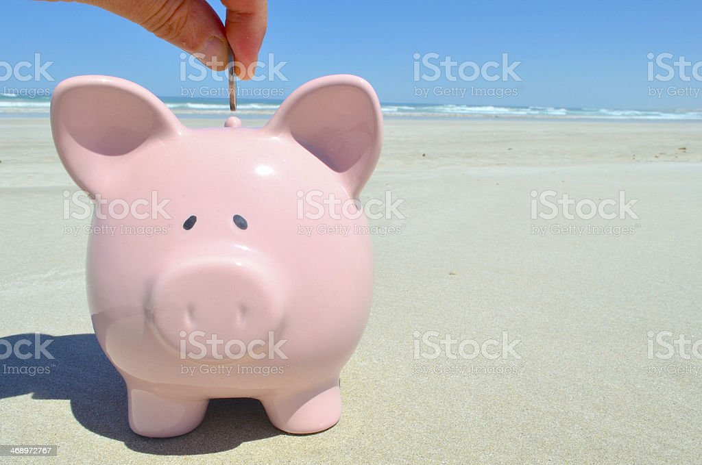 Saving for a Holiday royalty-free stock photo
