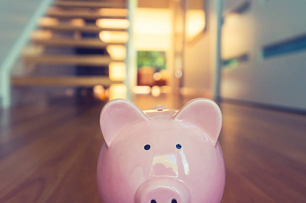 saving for a home concept. - mortgages and loans stock pictures, royalty-free photos & images