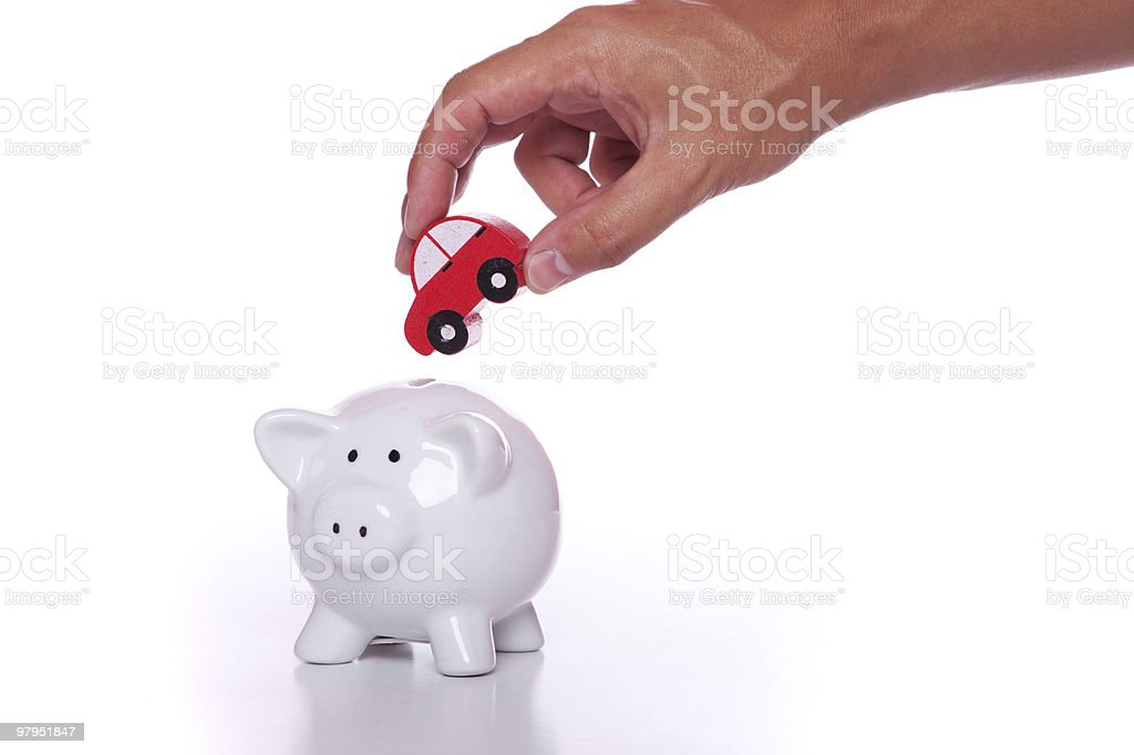 Saving for a new car royalty-free stock photo