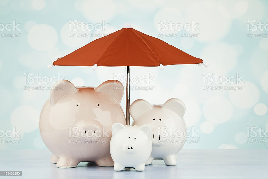 Saving for a Rainy Day stock photo