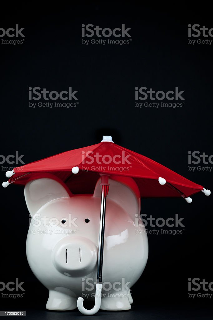 Saving for a Rainy Day   Vertical royalty-free stock photo