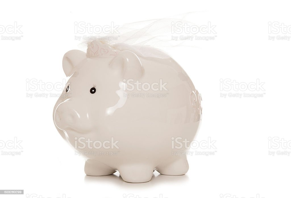saving for a wedding stock photo