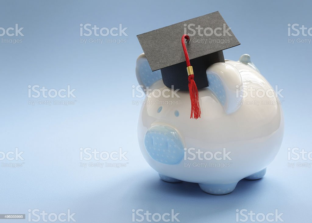 Saving for an education stock photo