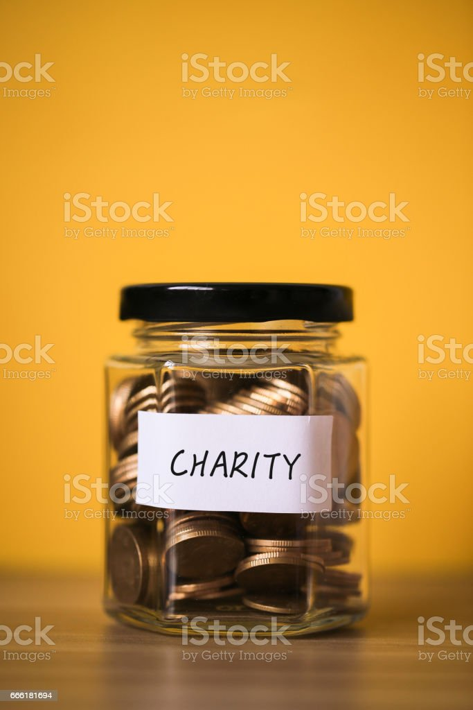 Saving For Charity Concept stock photo
