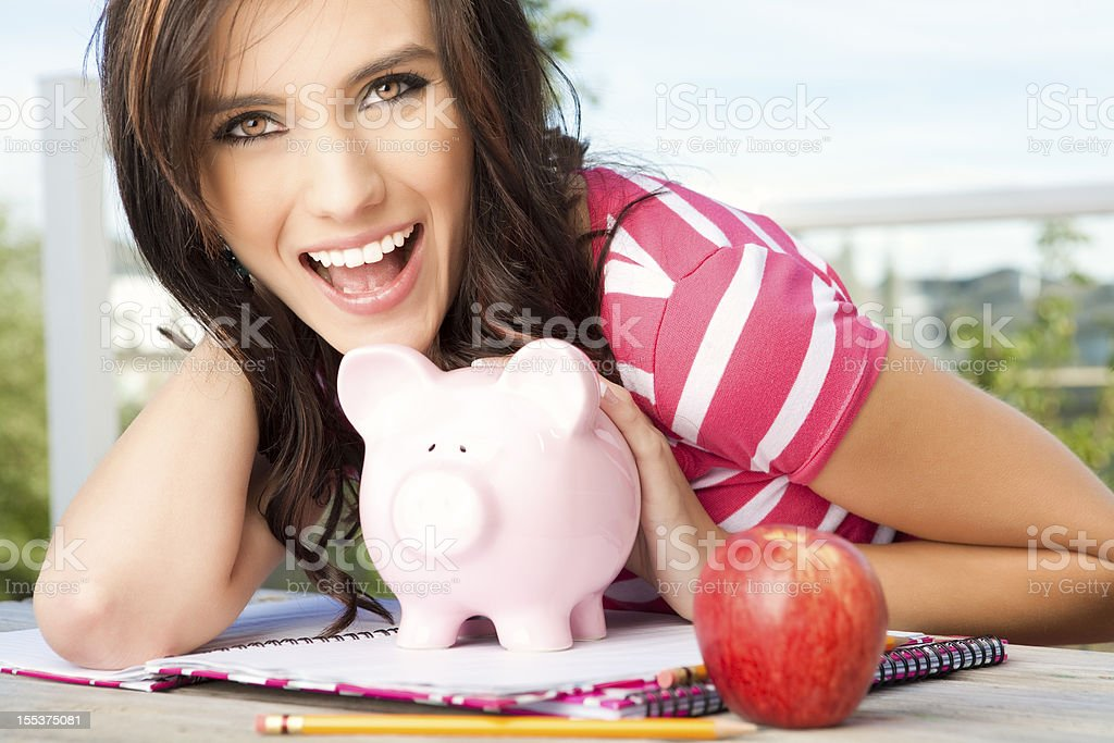 Saving for college stock photo