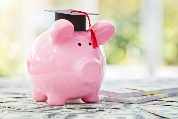 Saving for education and university stock photo