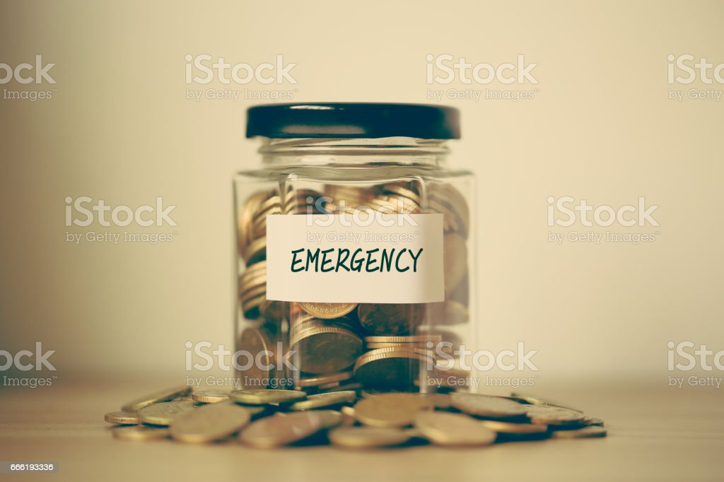 Saving For Emergency Concept stock photo