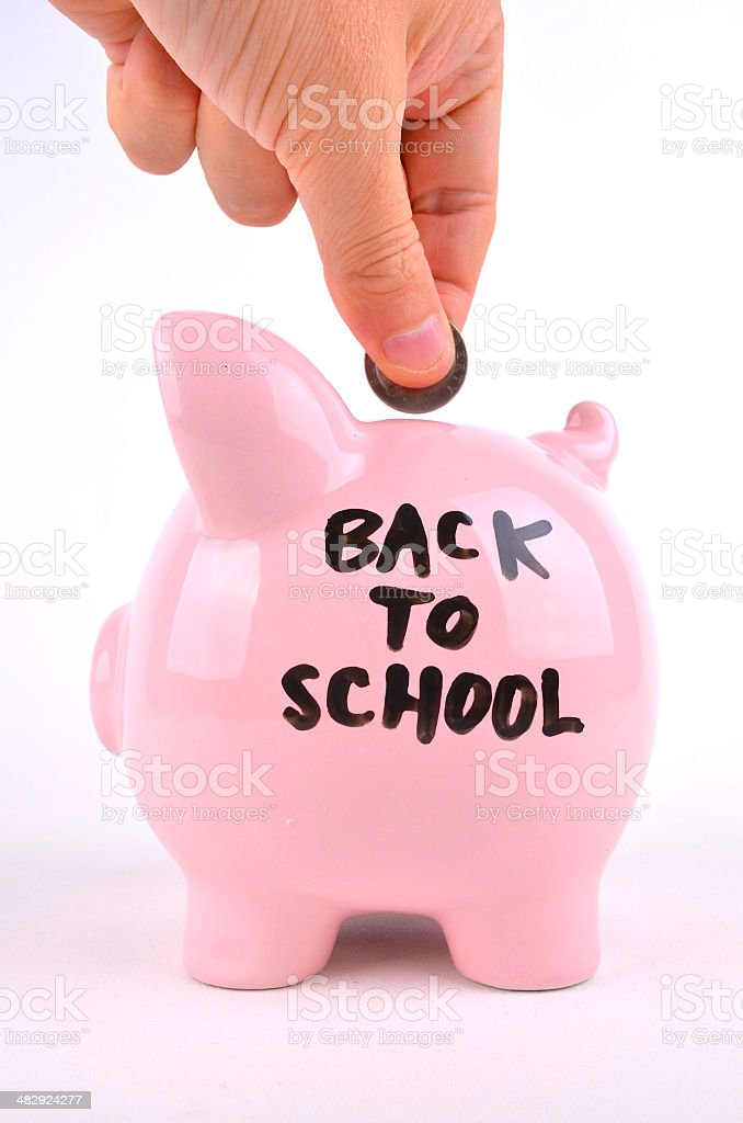 Saving for School royalty-free stock photo