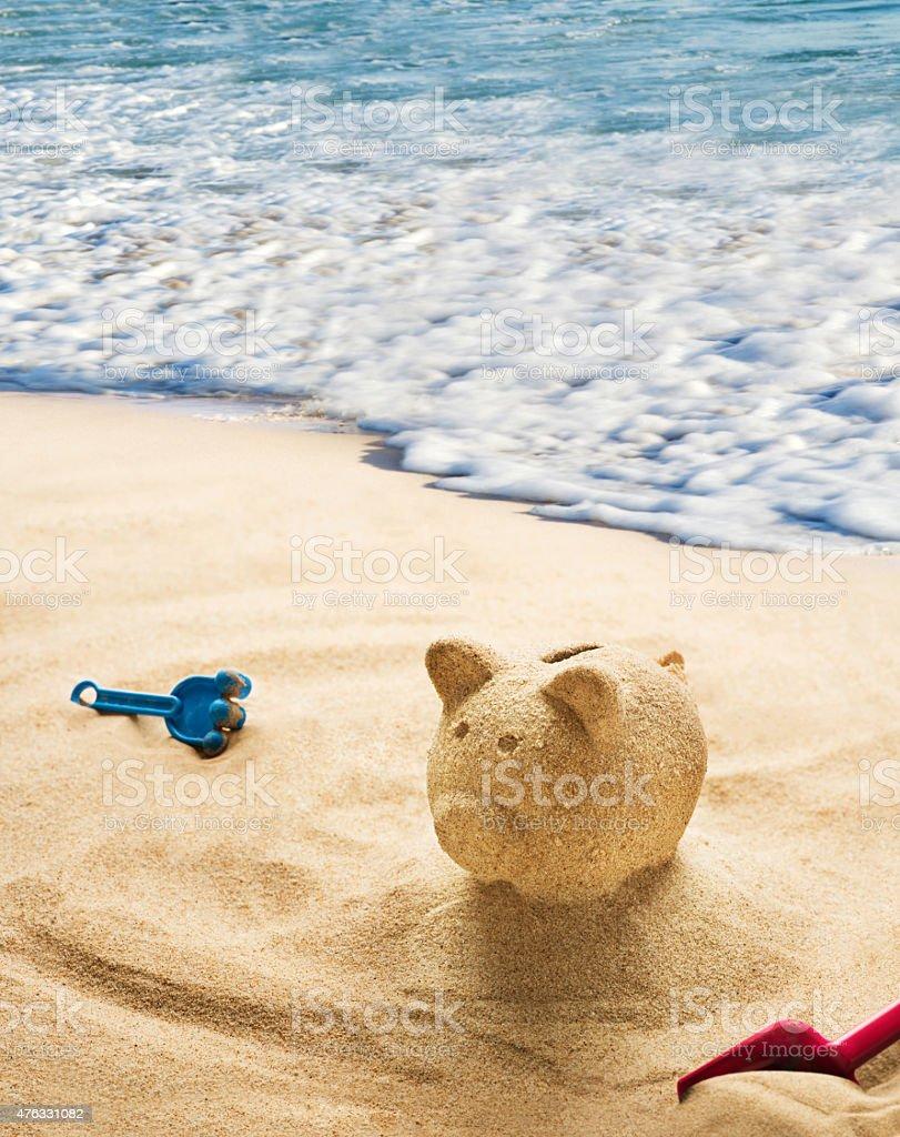 Saving for vacation stock photo