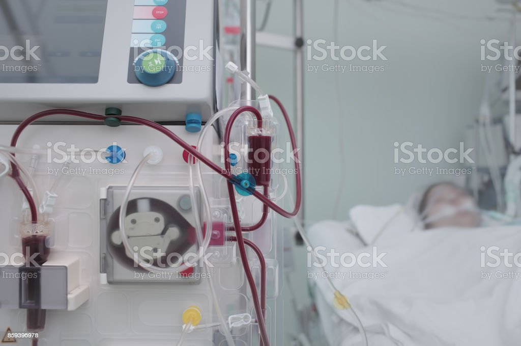 Saving life of the patient with high-tech equipment in a modern hospital stock photo
