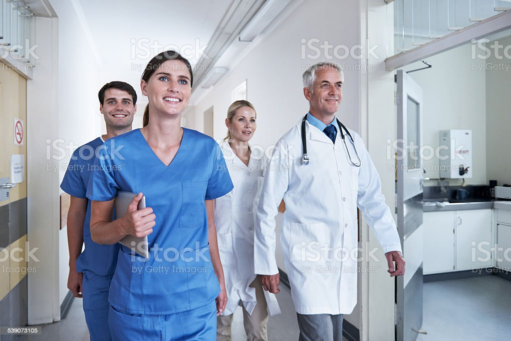 Saving lives everyday stock photo