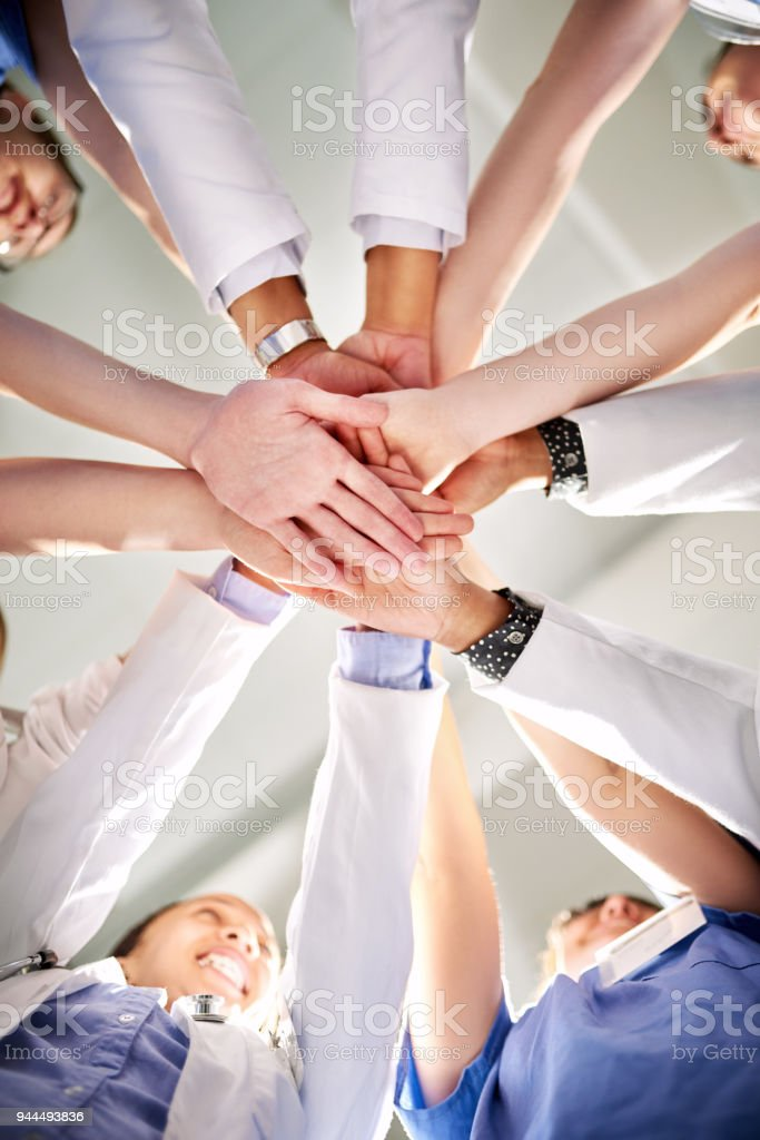 Saving lives is simply our daily comittment stock photo