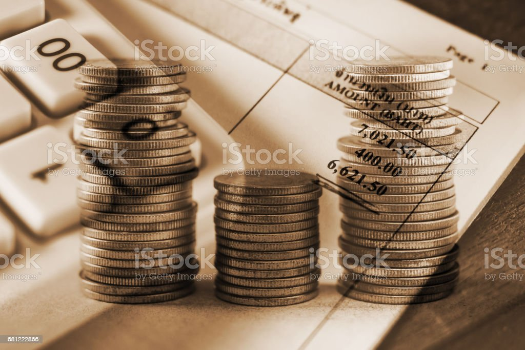 Saving money and account finance concept royalty-free stock photo