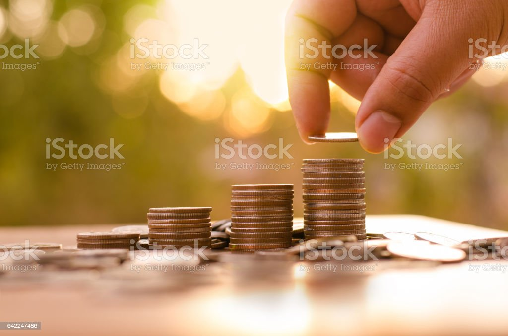 saving money and investor insurance concept stock photo