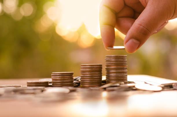 saving money and investor insurance concept stock photo
