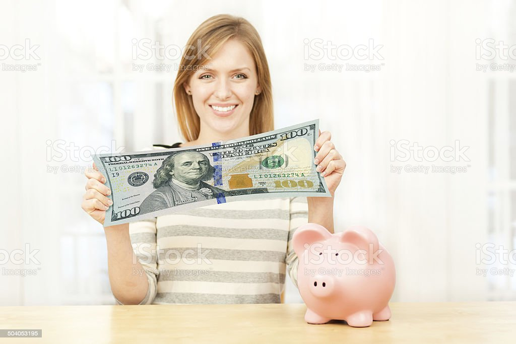 Saving Money by Stretching the Dollar stock photo
