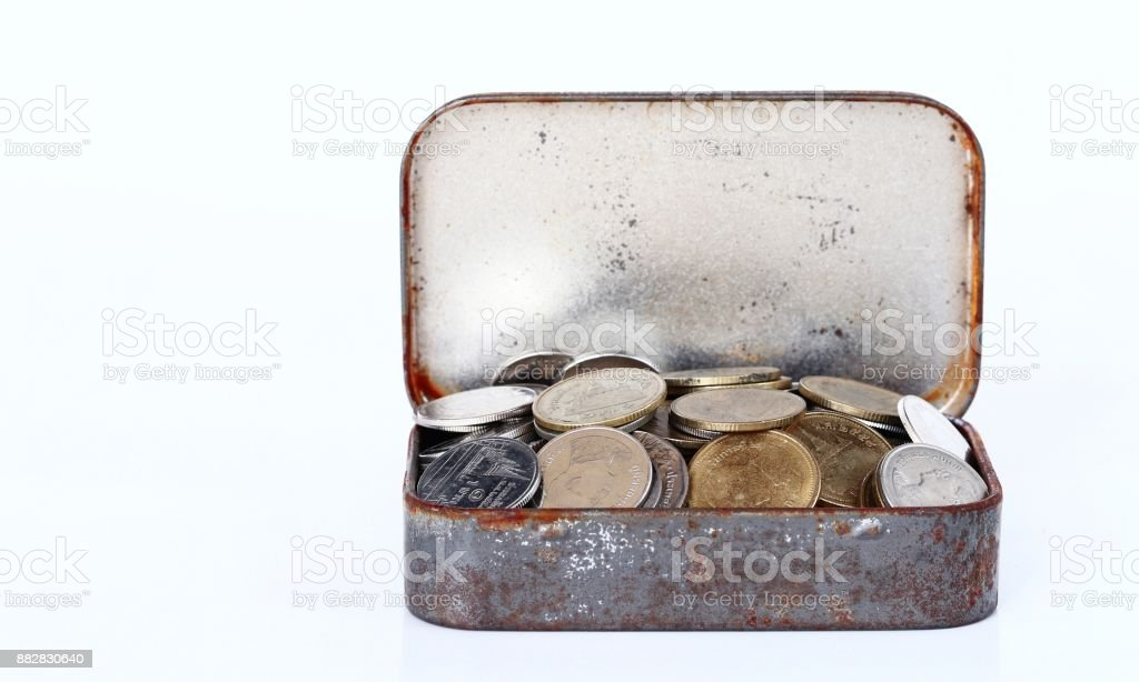 Saving money coins concept stock photo
