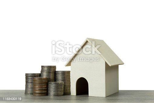 istock Saving money, home loan, mortgage, a property investment for future concept. 1153430119
