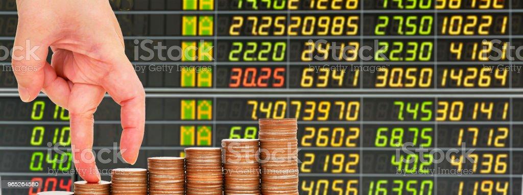 Saving money isolated on stock market concept royalty-free stock photo