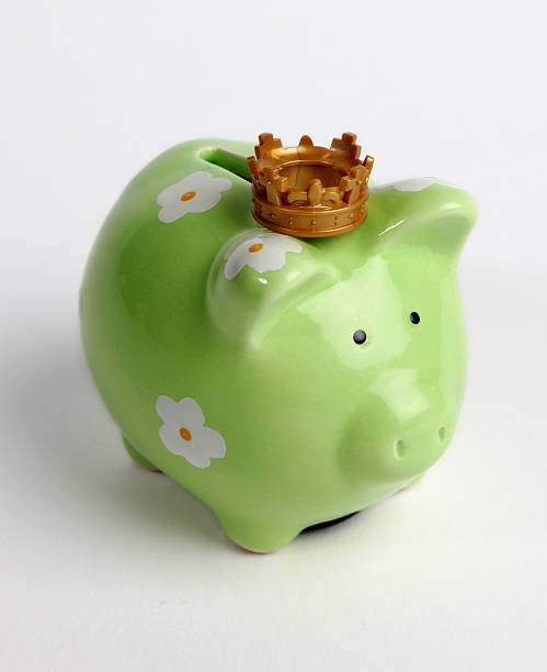 Saving money rules stock photo