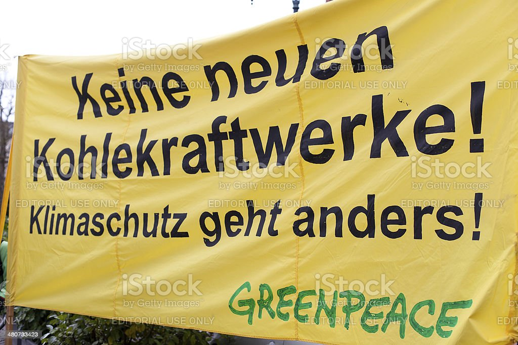 Energiewende retten. Demonstration in Wiesbaden, Germany royalty-free stock photo