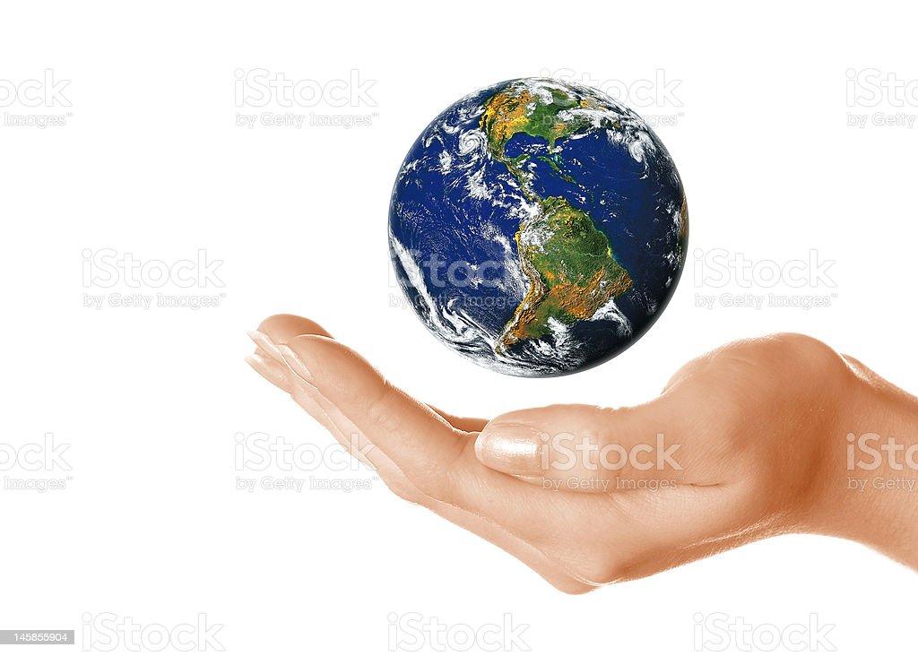 Saving the world royalty-free stock photo