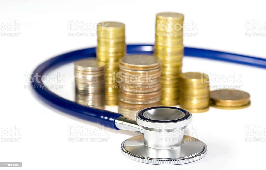 Saving up for health care royalty-free stock photo