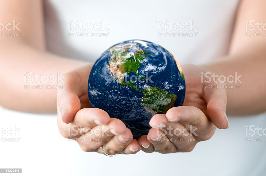 Saving world royalty-free stock photo