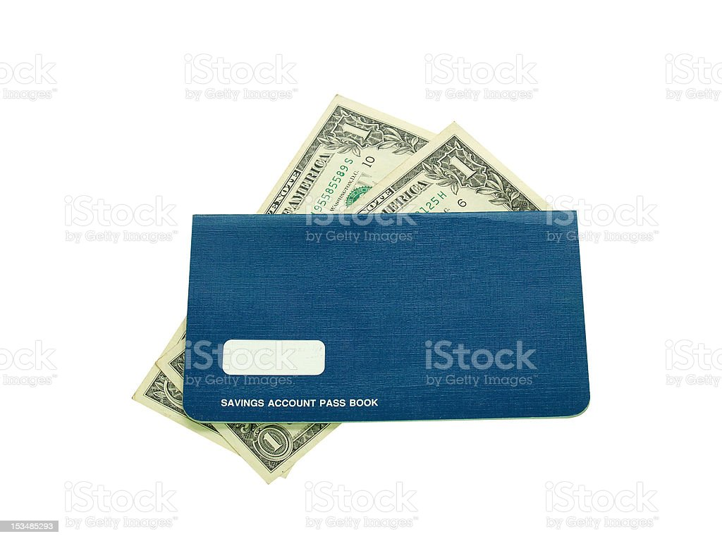 Savings account pass book stock photo