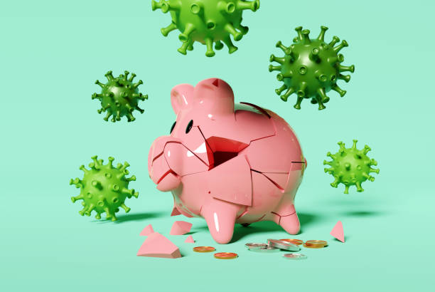 Savings Destroyed By A Virus stock photo