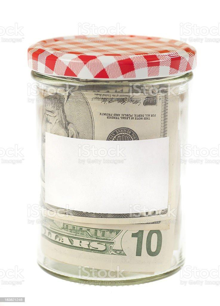 savings dollar money in jar royalty-free stock photo
