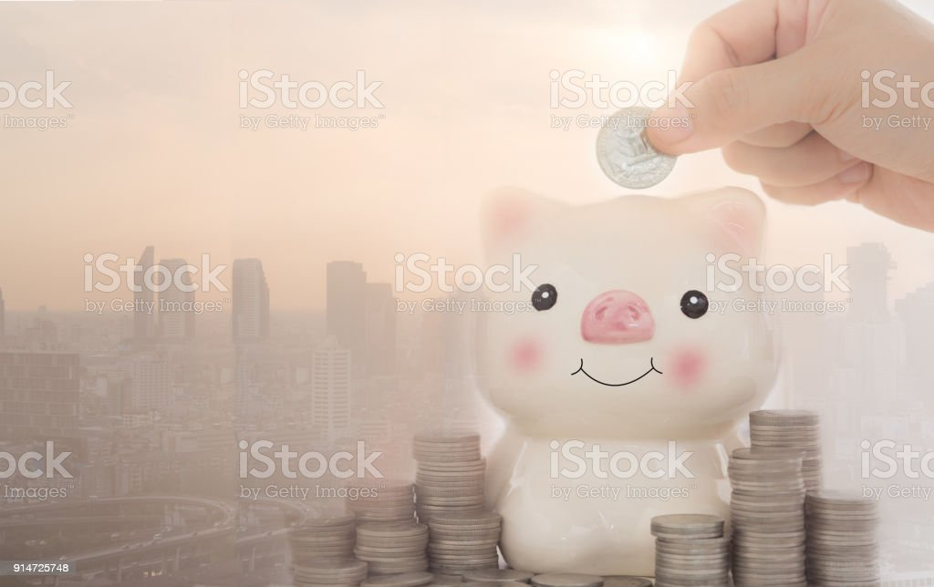 savings finance stock photo