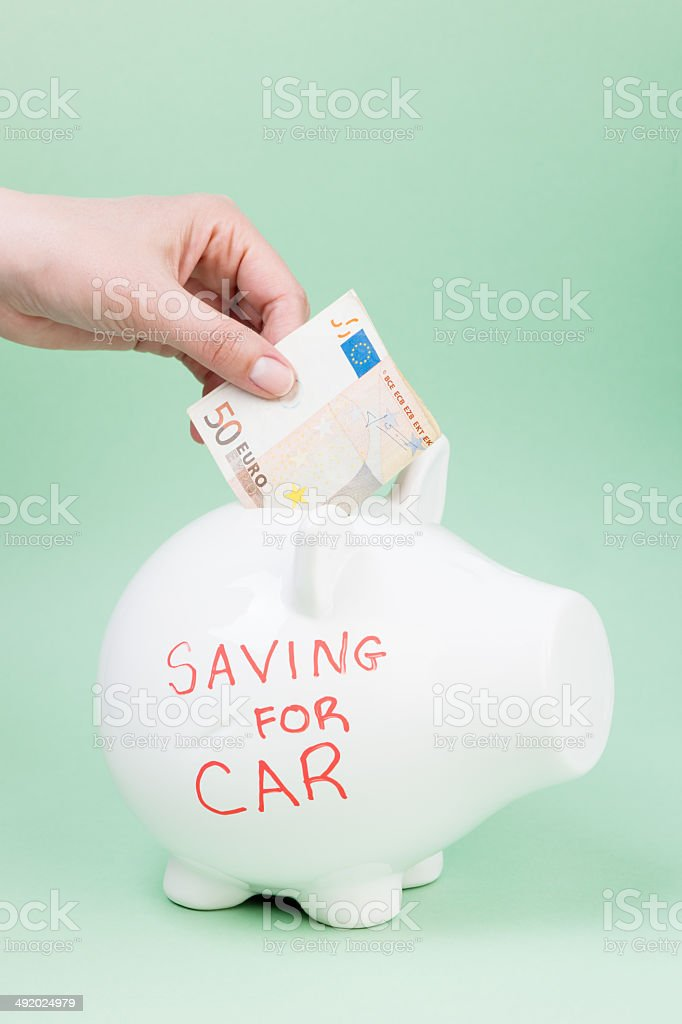 Savings for car royalty-free stock photo