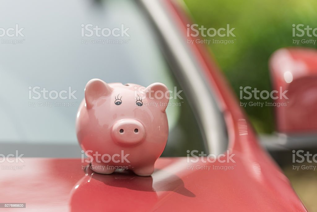 savings for car stock photo