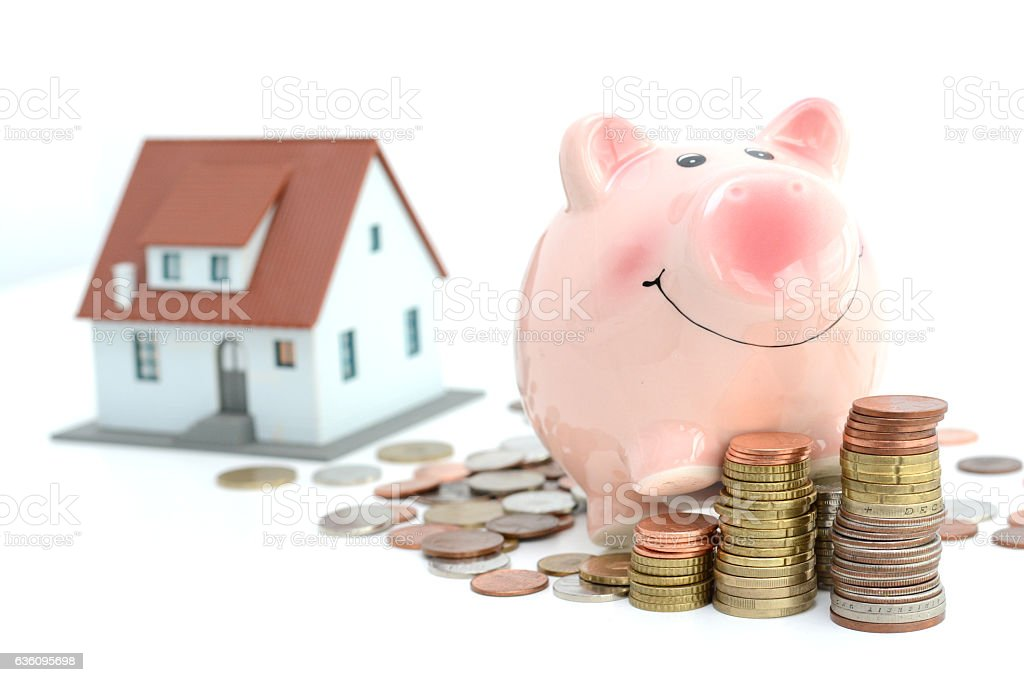 Savings for real estate project stock photo