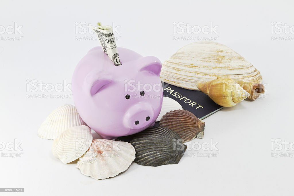 Savings for Summer Travel royalty-free stock photo