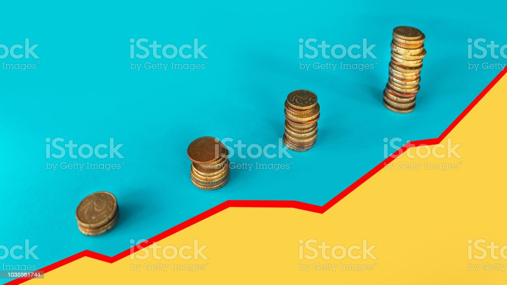 Savings' growth stock photo