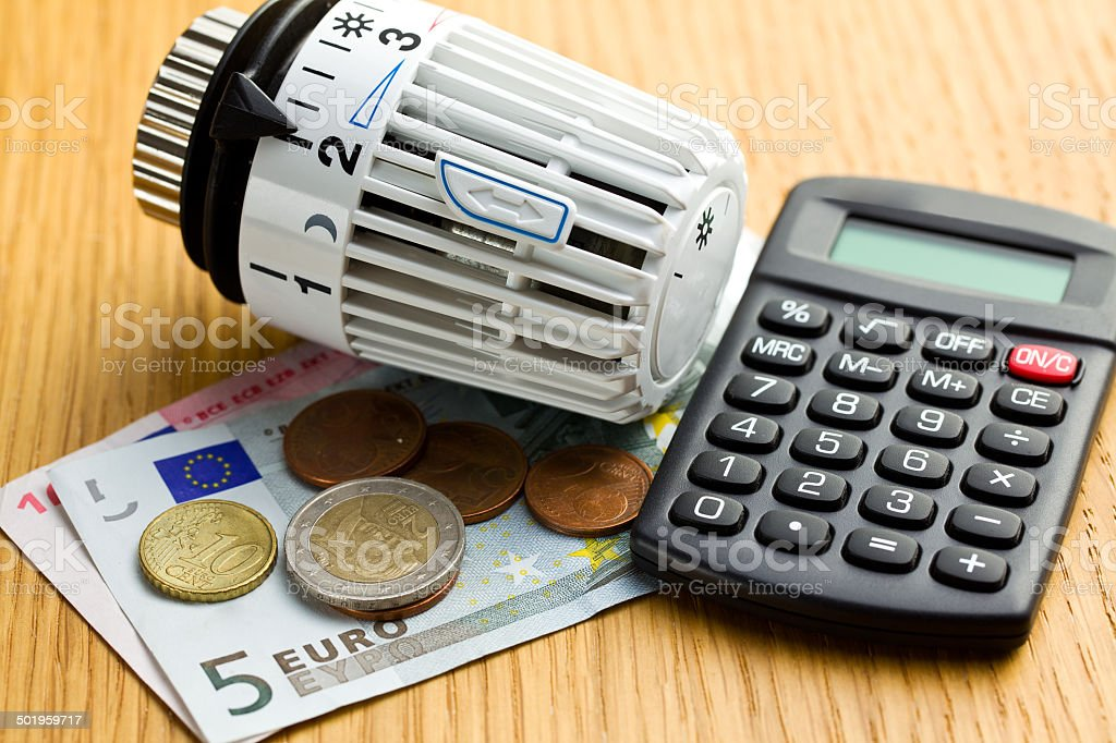 savings in heating royalty-free stock photo