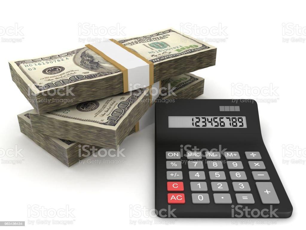 Savings investment tax money calculator - Zbiór zdjęć royalty-free (Analizować)