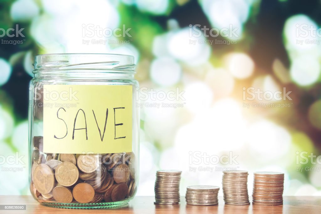 Savings money stock photo
