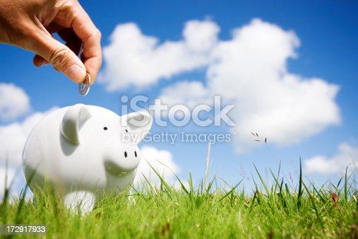 Loading a piggy bank