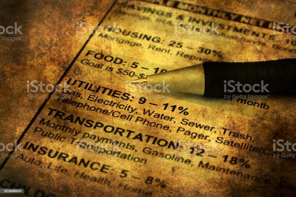 Savings Plan Grunge Concept Stock Photo - Download Image Now