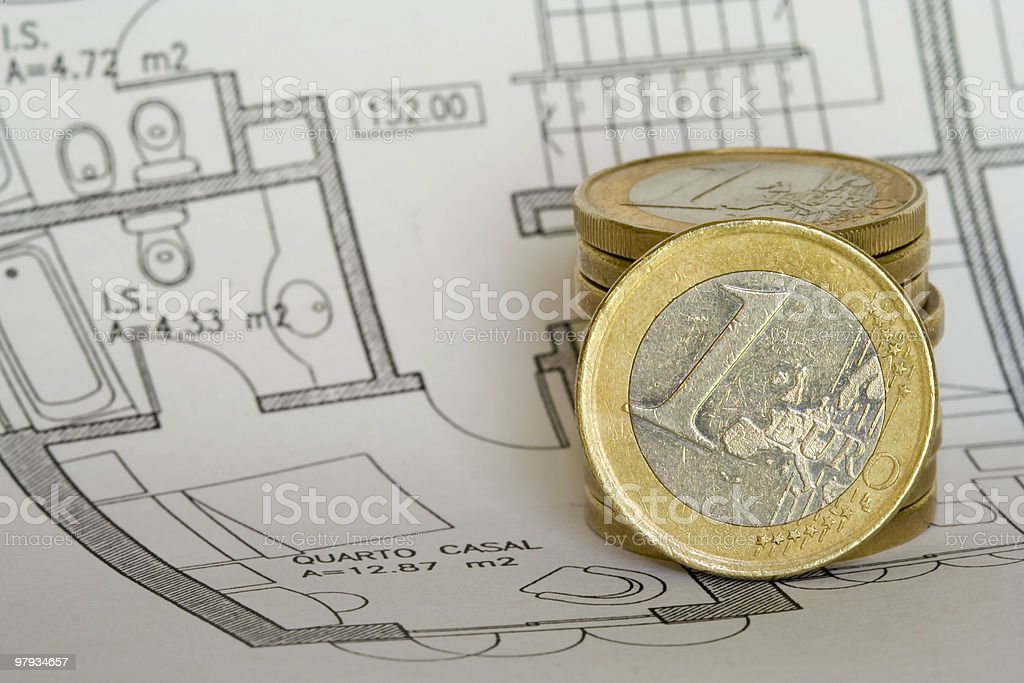 Savings to buy a house royalty-free stock photo