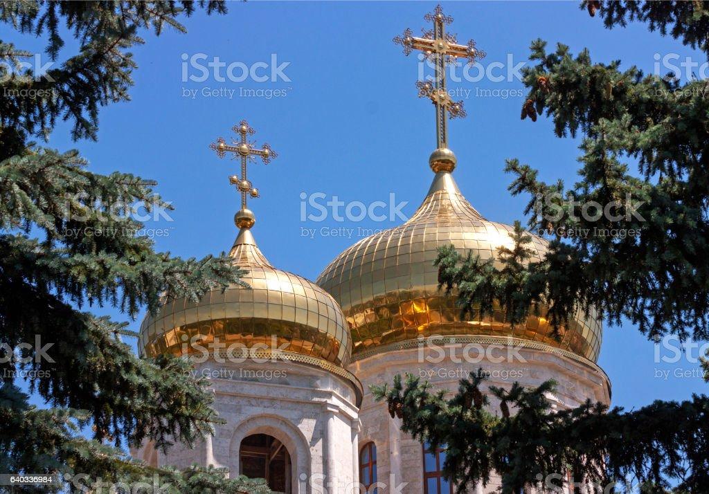 Saviour Cathedral in Pyatigorsk. stock photo
